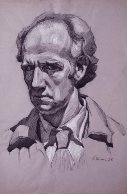 Cyril Mann self portrait